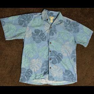 Trader Bay Hawaiian Leaf Short Sleeve Button Down